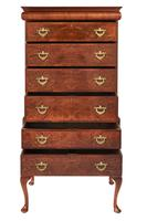 Walnut Queen Anne Revival Chest on Chest c.1920 (2 of 5)