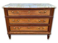 19th Century Fruitwood Commode With Marble Top