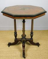 Outstanding Aesthetic Ebonised Birds Eye Maple & Gilt Bronze Table (4 of 10)