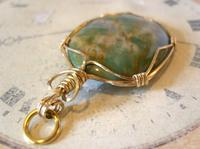 Vintage Pocket Watch Chain Fob 1970s 12ct Gold Plated & Irish Connemara Marble Fob (4 of 10)