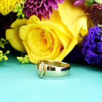The Antique Victorian 1890 Gold & Diamond Buckle Ring (5 of 7)