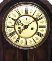 Fantastic Antique Walnut Arch Glazed 8-day Twin Weight Striking Vienna Regulator Wall Clock (12 of 12)