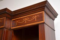Antique Sheraton Style Inlaid Mahogany Open Bookcase (10 of 11)