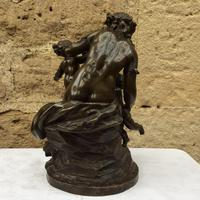 French Patinated Bronze Bacchanalian Group after Clodion (6 of 6)