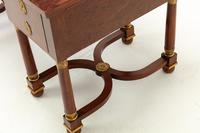 19th Century French Plum Pudding Mahogany Bureau Plat (5 of 11)