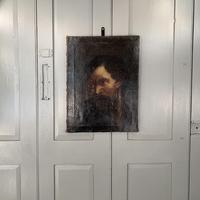 Antique Georgian oil painting portrait of dark haired bearded gentleman (3 of 11)