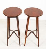 Pair of Mahogany Sheraton Revival Occasional Tables (6 of 7)