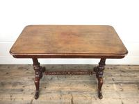 Victorian Mahogany Occasional Table with Stretcher (3 of 10)