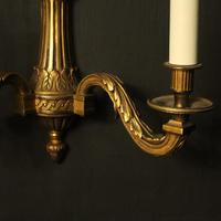French Gilded Bronze Twin Arm Wall Lights (6 of 10)