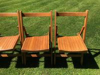 Antique Set of 8 Folding Beech Chairs (7 of 9)