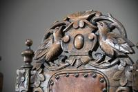 4 Carved Oak Dining Chairs (7 of 13)
