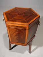 Good George III Period Hexagonal Mahogany Wine Cooler (4 of 6)