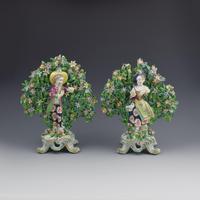 Pair of Bow Porcelain Bocage Figures New Dancers c.1765
