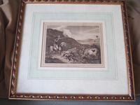 "Late 18th Century Etching ""Grouse Shooting"" by Samuel Howitt (2 of 6)"