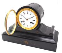 Drum Head Slate Mantel Clock – Gilt Marble 8-day Striking Mantle Clock (6 of 11)
