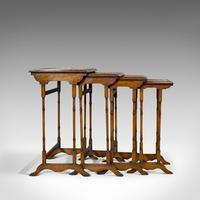 Antique Quartetto of Tables, English, Walnut, Mahogany, Nest, Edwardian, C.1910 (9 of 10)