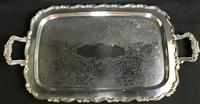 Large Silver Plated 2 Handle Butlers Tray (4 of 5)