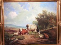 Fine Art English Oil Painting Cattle Cows & Sheep After Thomas Sidney Cooper (30 of 33)