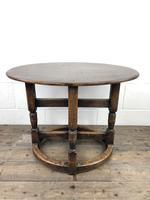 Unusual Antique Oak Oval Top Table (2 of 12)