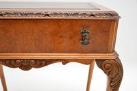 Antique Burr Walnut Leather Top Writing Table / Desk (6 of 10)