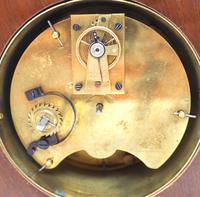 Impressive Thin Mahogany Edwardian Lancet Clock Timepiece Mantel Clock (10 of 11)