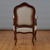 Pair of French Louis XV Style Walnut Armchairs (9 of 9)
