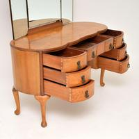 Queen Anne Style Burr Walnut Dressing Table c.1930 (7 of 9)