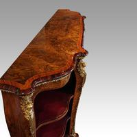 Victorian Inlaid Walnut Side Cabinet (4 of 17)