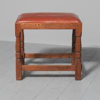 Oak & Leather Stool by Derek 'Lizardman' Slater of Crayke (2 of 5)