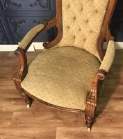 Quality Victorian Walnut Armchair (11 of 14)