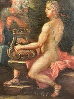 Genre Art 18th Century Oil Painting Classical Figures Musical Recital & Satyrs (15 of 26)