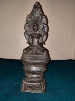 18th / 19th Cambodian Bronze Mucalinda Buddha