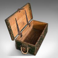Small Antique Mariner's Trunk, English, Pine, Chest, Late Victorian c.1900 (10 of 12)