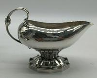 Rare Early Georg Jensen Silver Tea Set Leaf & Berry 181 1924 (4 of 10)