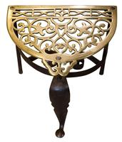 19th Century cast brass and wrought iron fireside trivet (5 of 5)