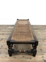 Early 20th Century Turned Oak Footstool with Cane Top (11 of 12)