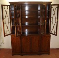 1960's 4 Door Mahogany Bookcase with Glazed Top and Keys (3 of 3)