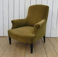 High Back French Antique Armchair for re-upholstery