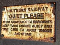 Large Heavy Rusted Cast Iron Railway Plaque Sign Train Notice (9 of 25)