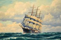 Antique Nautical Oil Painting (3 of 10)