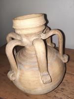 C.12th Century A.d.seljuk Unglazed Terracotta 6 Handled Jug (2 of 7)