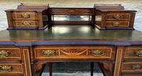 Maple & Co - Stunning Edwardian Marquetry Rosewood Library Writing Table Desk (6 of 15)