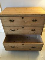 Stripped Pine Chest of 3 Drawers (8 of 8)