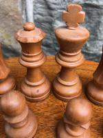 Antique Boxwood & Mahogany Chess Set (3 of 6)