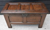 Handsome 17th Century Small Proportioned Oak Coffer/ Chest c.1680 (12 of 14)