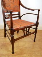 Edwardian Art Nouveau High Back Open Armchair (7 of 10)