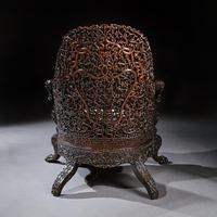Exceptional 19th Century Anglo Indian Carved Teak Armchair (7 of 9)