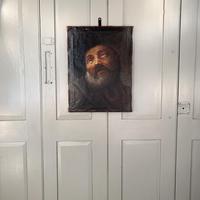 Antique Georgian oil painting portrait of elderly bearded gentleman (9 of 9)