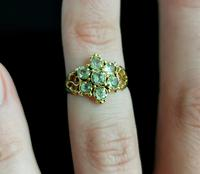 Antique Victorian Topaz Cluster Ring, 18ct Gold (11 of 11)