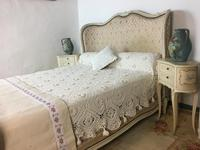 Antique French Full Corbeille King Size Bed Frame Curved Headboard & Footboard (12 of 13)